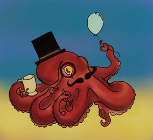I imagine there's an octopus like this guy collecting trinkets.