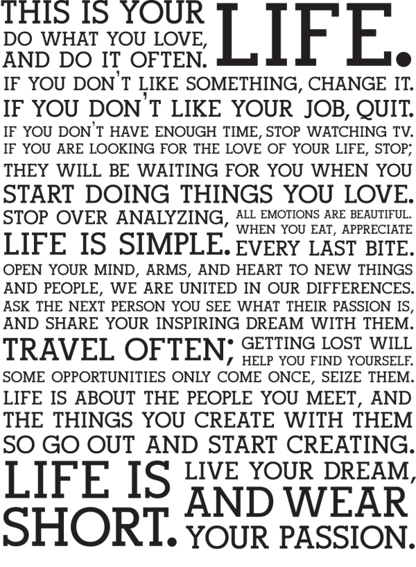 From the Holstee Manifesto