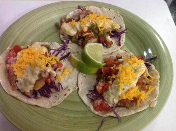 It's hard to turn down scrumptious fish tacos!
