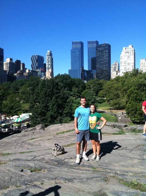 Central Park vistas (and yes, I am wearing a TMNT t-shirt)