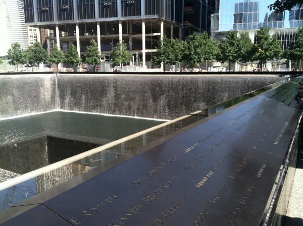 9/11 Memorial site and WTC 1