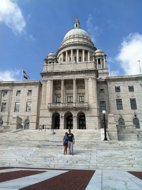 Rhode Island State House. See? We did some educational stuff, too!