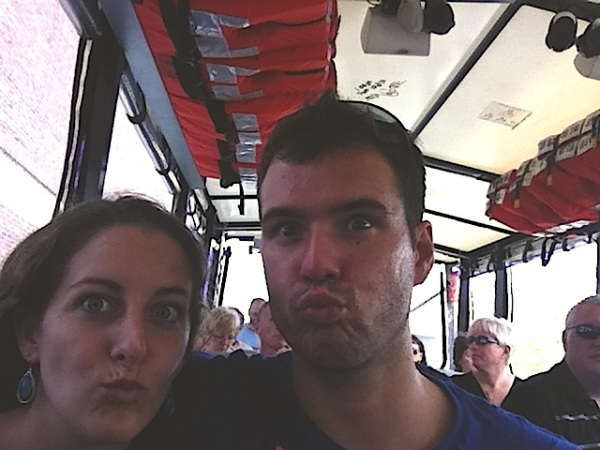 Duck faces on a duck tour...obviously!