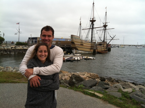 The Mayflower. And the cold, cold New England weather.