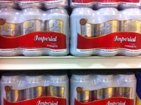 Imperial beer available in Roatan - great for Beermosas!