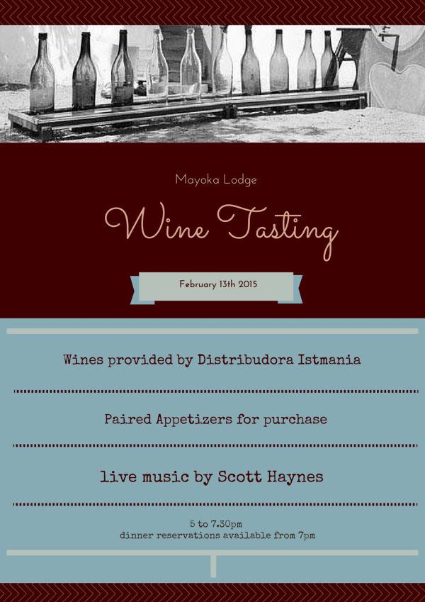 Wine Tasting hosted by Mayoka Lodge in Roatan